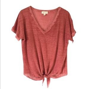 Cloth & Stone Anthropologie Linen Blend T-Shirt S